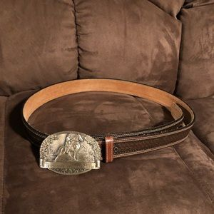 Other - Leather belt with Tennessee Walker Horse Buckle